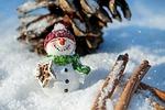 snowman, śnieg, zima