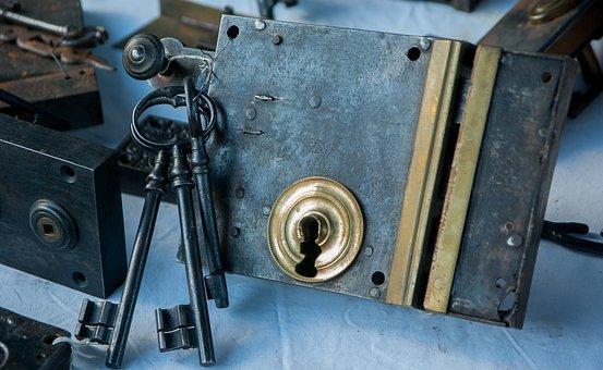 Flea Market, Lock, Key, Keychain