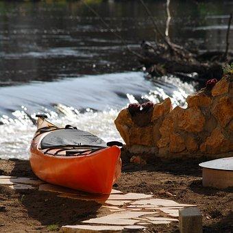 Canoeing, Water, Kayak, Paddle