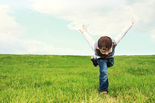 子供のころ, 子, フライト, 無料, 運, チラシ, 子供, 再生, 自然