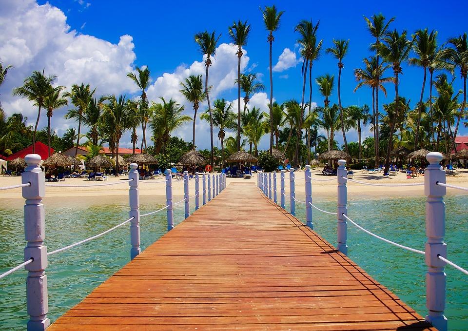 Dominikanische Republik, Tropen, Palmen, Meer, Ozean