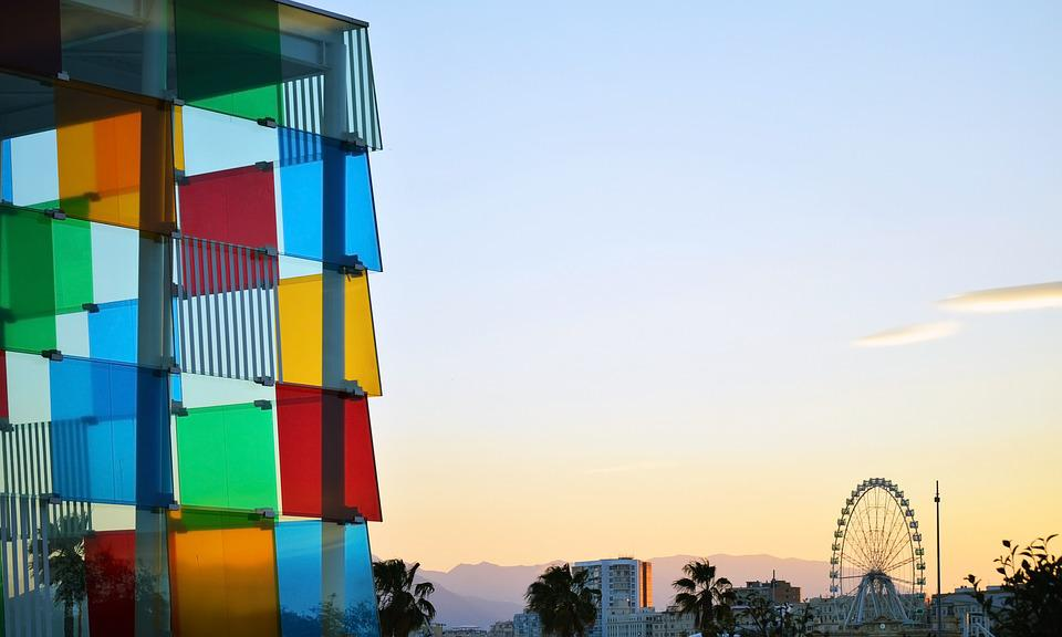 Malaga, Spain, Centre, Center, Pompidou, Downtown, City