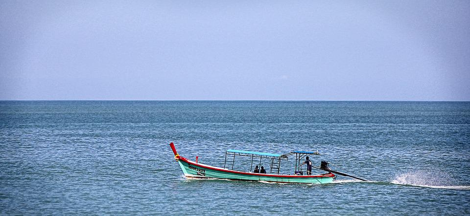 Sea, Thailand, Fishing Boat, Water, Boot, Blue