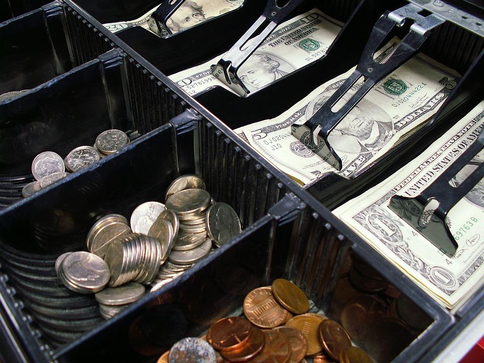 キャッシュ レジスタ, 引き出し, 現金, 登録, お金, 小売, ビジネス, ショップ, 通貨, まで