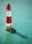 lighthouse, sea, water