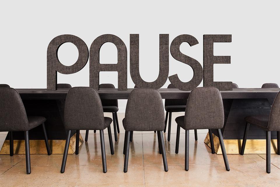 Conférence, Pause, Interruption, Équipe, Bureau