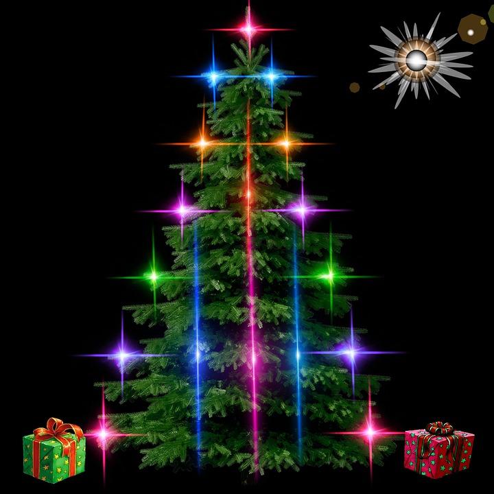 fir christmas lights gifts ball star decorations - Ball Christmas Lights
