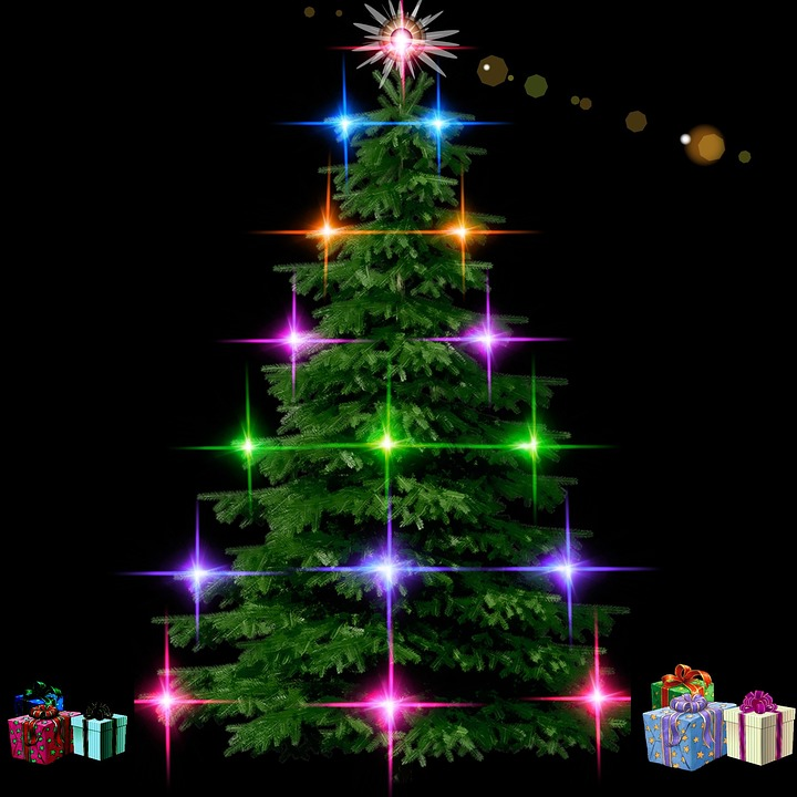 lights photo symmetry free christmas tower tree night fir decorations and black lighting white images en decor decoration