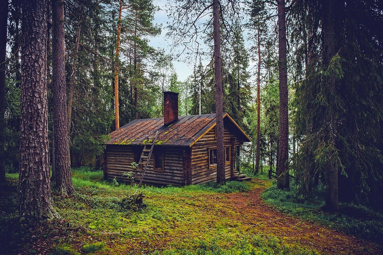 Log Cabin, Cottage, House, Home, Finland, Landscape