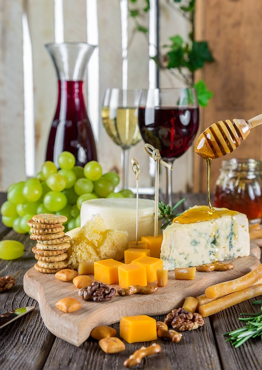 Cheese Plate Rustic Snacks Gastronomy