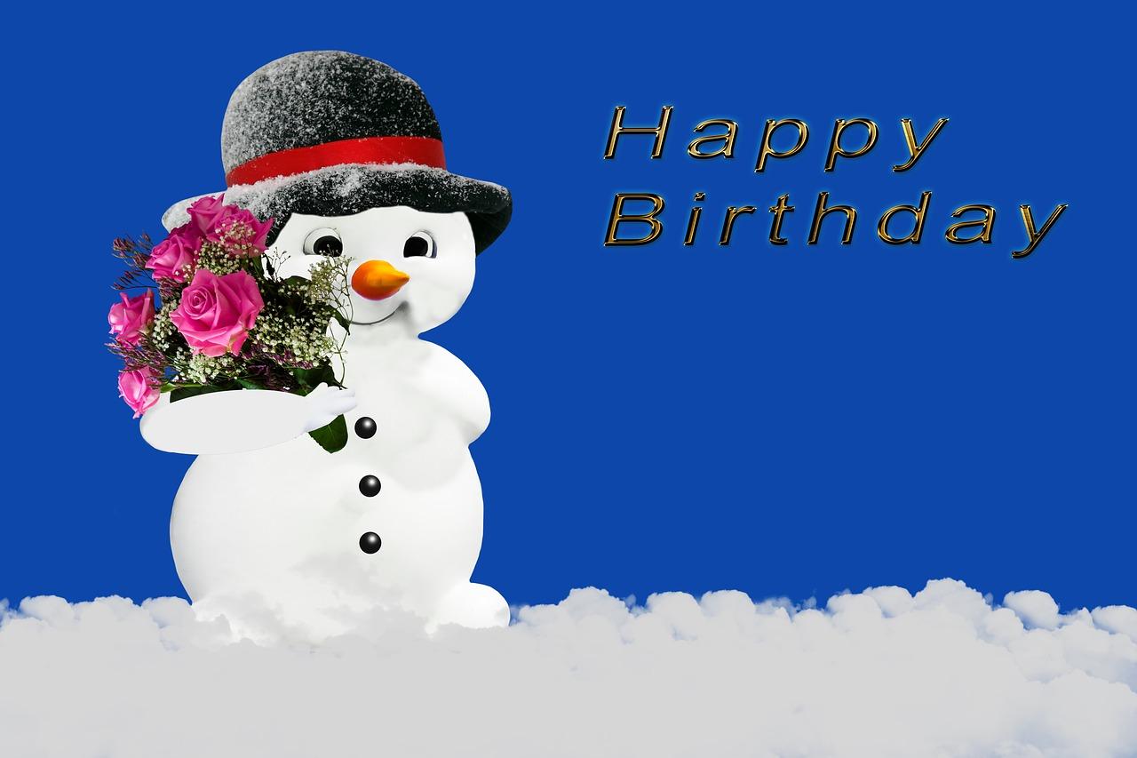 Картинки день рождения зима