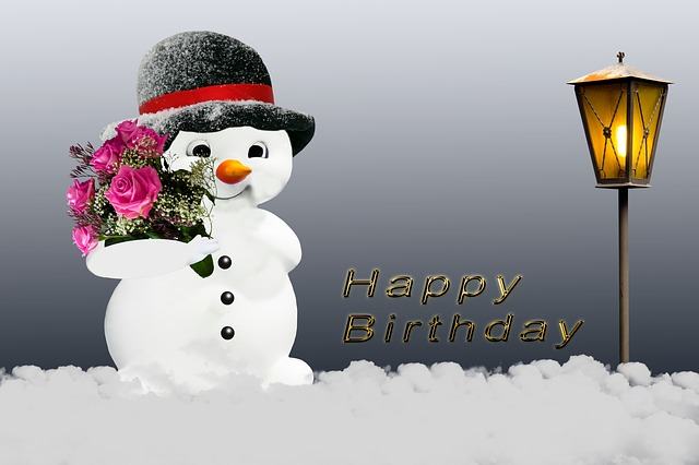 Birthday Card Winter Snow Man 183 Free Image On Pixabay
