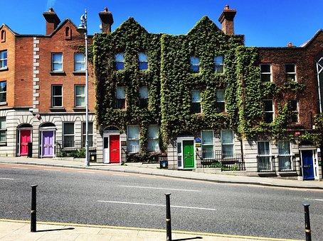 Puertas de colores en las casas de Dublín