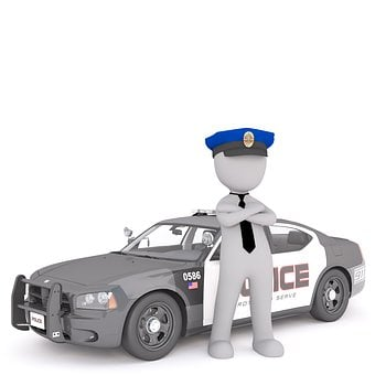 Police Car, White Male, 3D Model