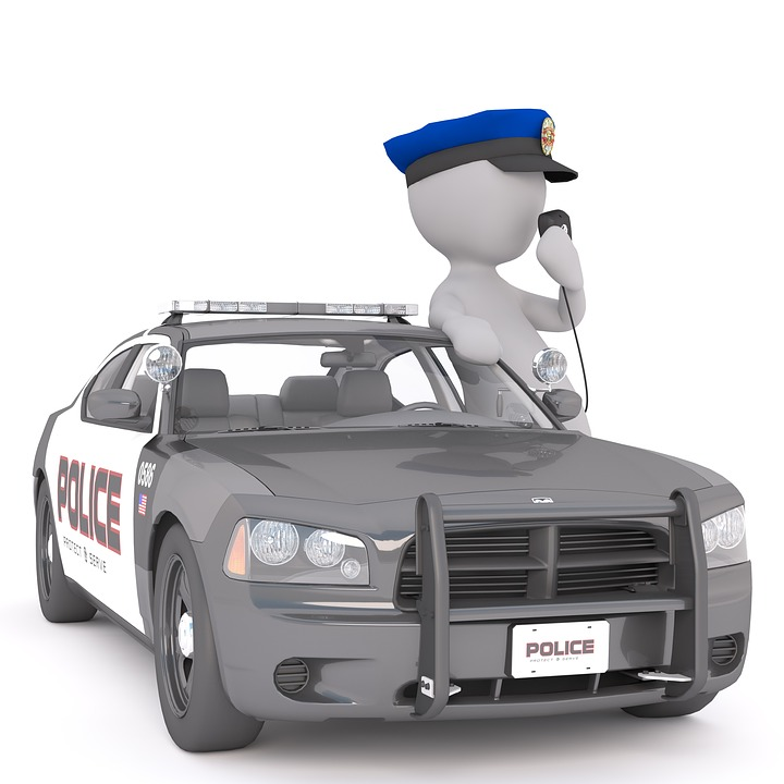 Police Car White Male 3d Model Free Image On Pixabay