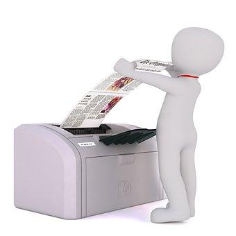 Fax, Varón Blanco, Modelo 3D, Aislado