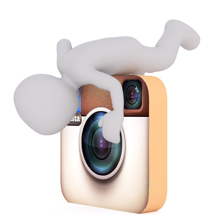 Instagram, Homem Branco, Modelo 3D, Isolado, 3D, Modelo
