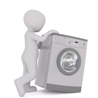 Washing Machine, White Male, 3D Model