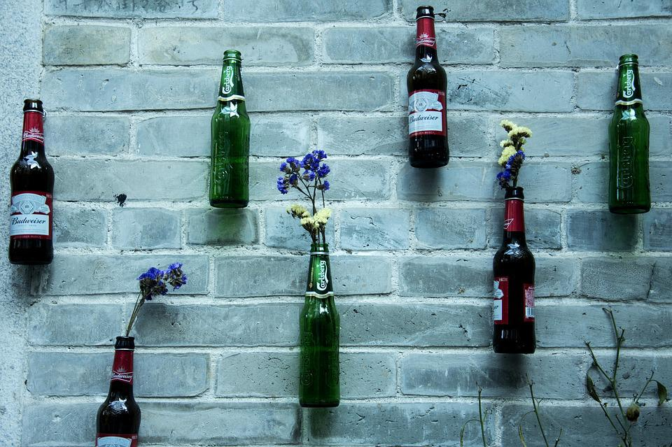 Canton, Xiao Zhou, Beer, Wall, Bottle, Vase, Decoration