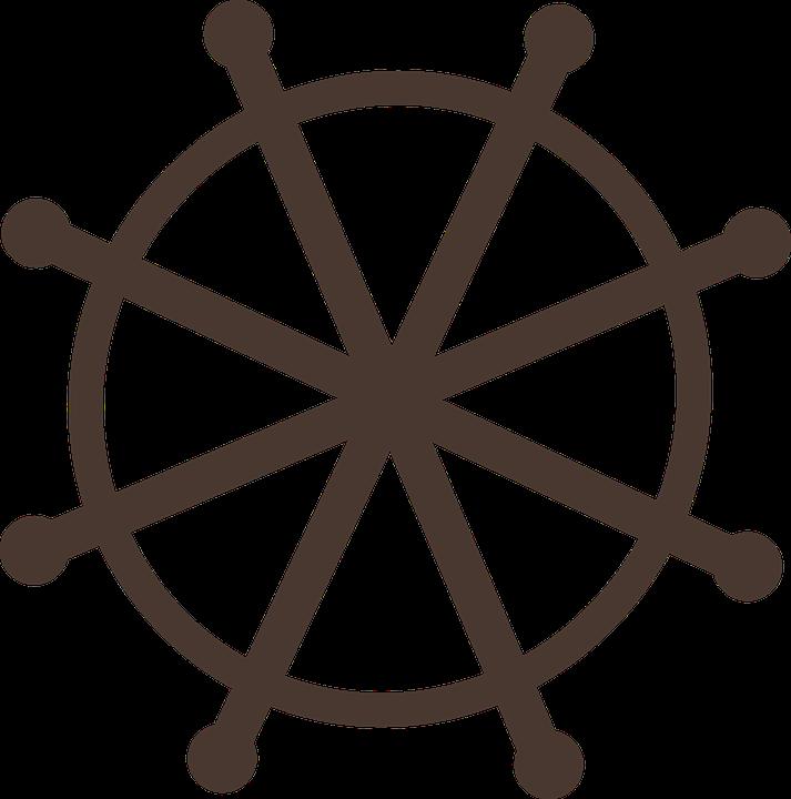wheel dhamma symbolic free vector graphic on pixabay