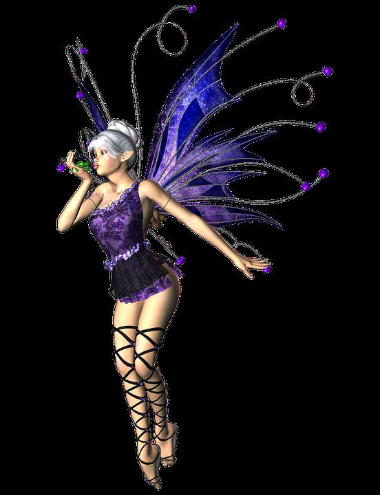 Free Illustration Girl Woman Fairy Elf Wings 3d