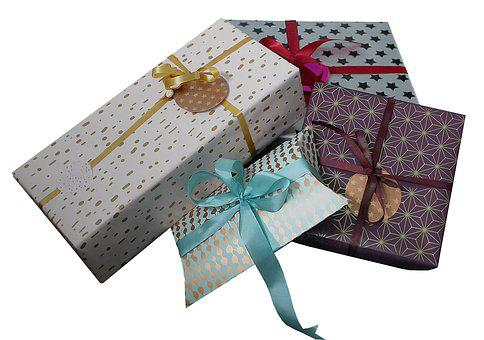 Gift, Gifts, Packages, Christmas, Tape