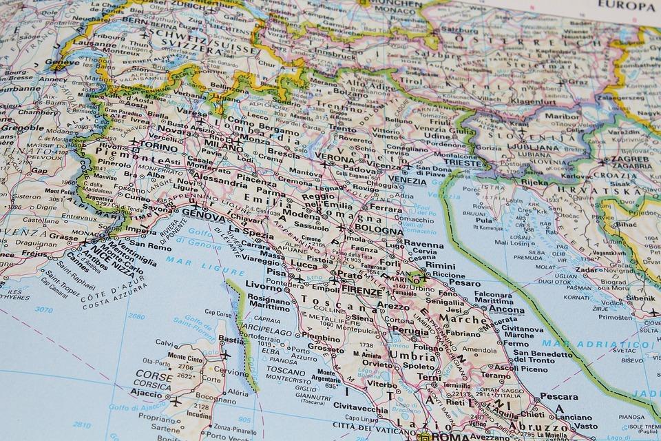 Italia Cartina Nord.Italia Nord Centro Nord Foto Gratis Su Pixabay