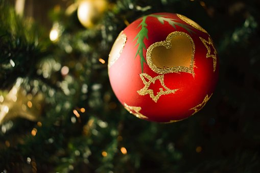 Christmas, Heart, Love, Red, Tree, Ball