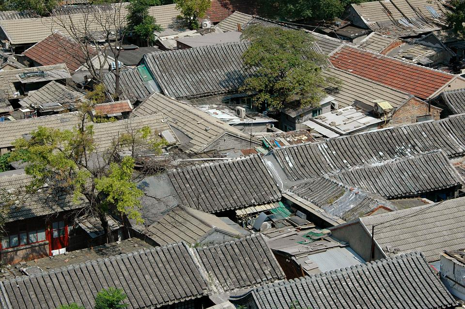 Pekin, Beijing, Hutong, Roofs, Houses, China, Decrepit