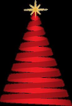 Boże Narodzenie, Drzewo, Czerwony