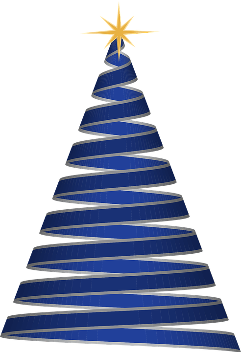 christmas tree ribbon blue christmas - Blue Christmas Trees