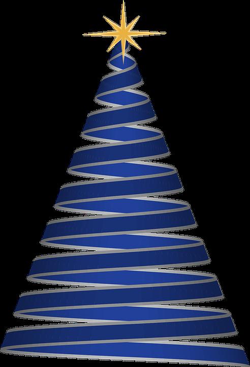 christmas tree ribbon blue christmas tree holiday