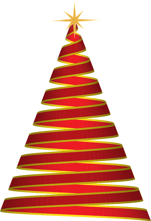Christmas Tree Ribbon Red Free Vector Graphic On Pixabay
