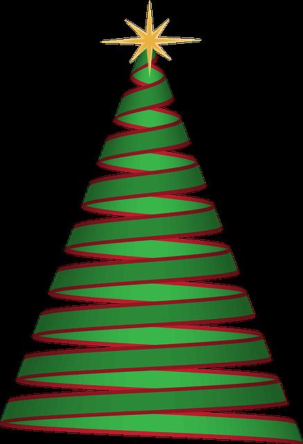 christmas tree ribbon green  u00b7 free vector graphic on pixabay