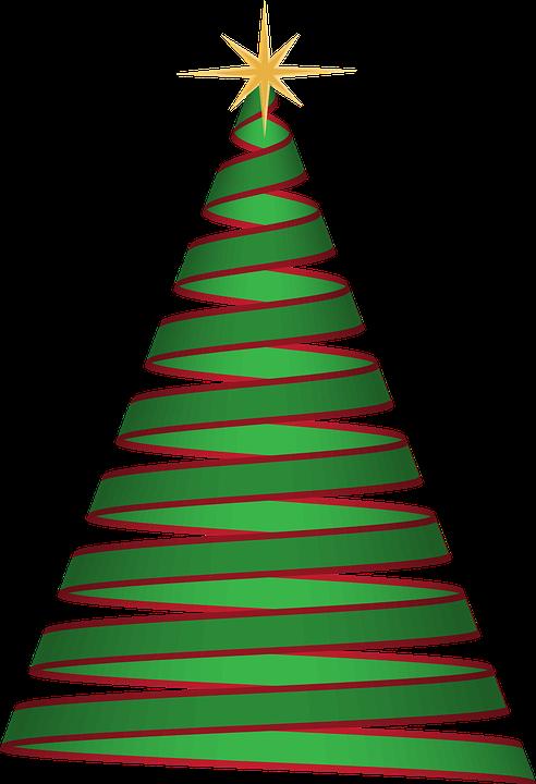 christmas tree ribbon green christmas tree holiday