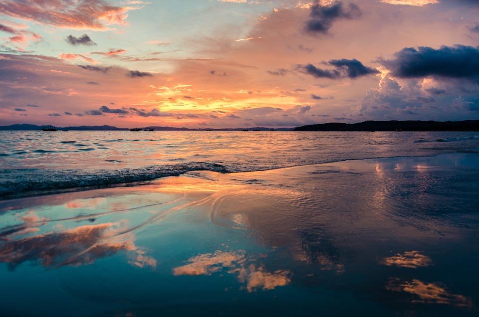 La Plage Coucher De Soleil Mer Photo Gratuite Sur Pixabay