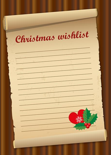 list christmas give  vector graphic  pixabay