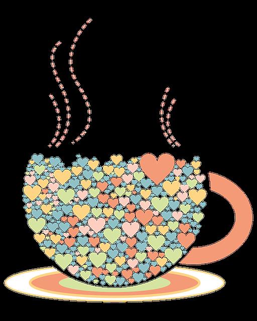 무료 일러스트: 사랑, 티 컵, 일러스트 레이 션, 색, Png - Pixabay의 무료 이미지 ...