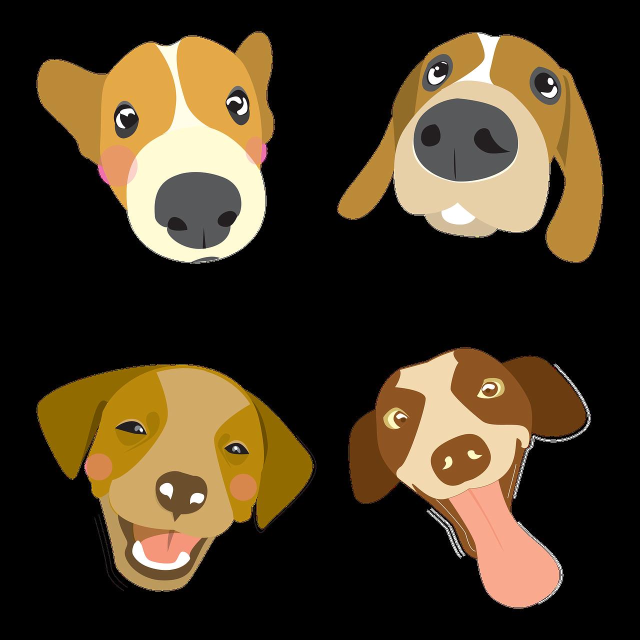 Dog Illustration Pet Big Head Free Image On Pixabay