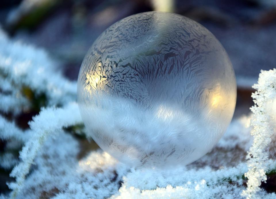 Bolla, Bolla Di Sapone, Palle, Inverno, Freddo, Frost