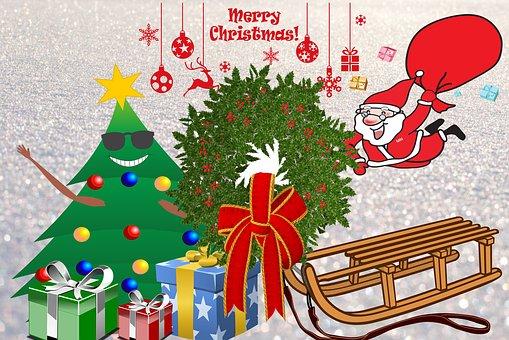 Noël, Fête, Sapin, Joyeux Noël
