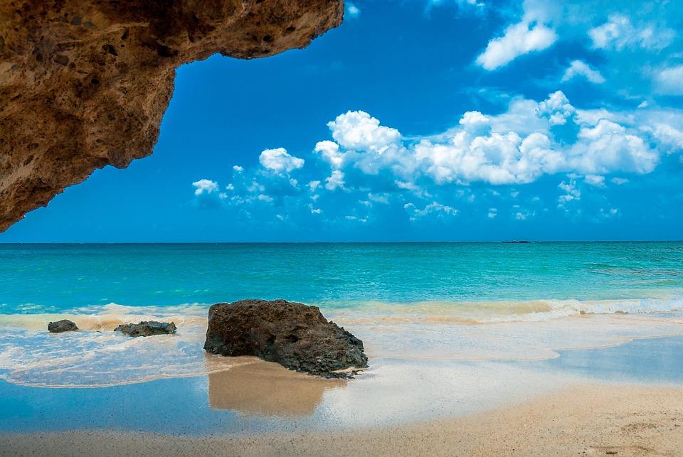 Kreta, Słońce, Wakacje, Elafonisi, Morze, Woda, Chmury