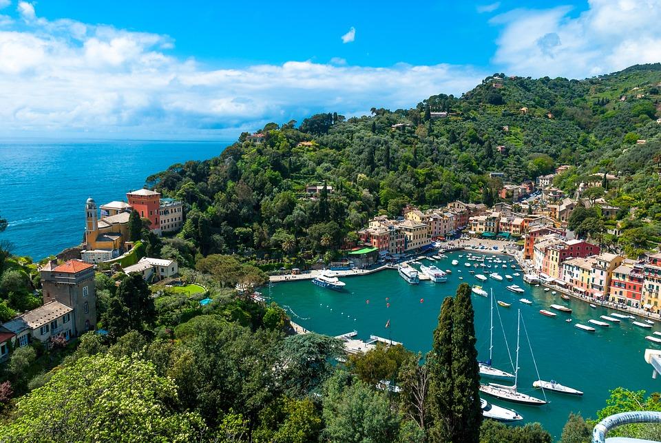 Portofino, The Sun, Holidays, Clouds, Sky, Landscape