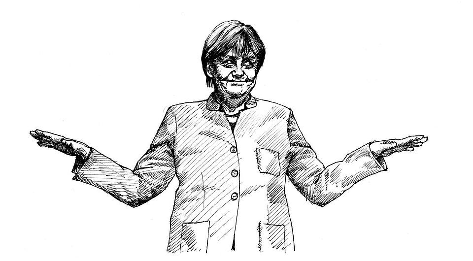 Merkel, Cdu, Parteitag, Zeichnung, Angela, Politikerin