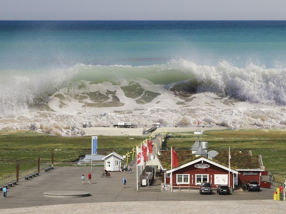 St, Peter-Ording, Tsunami, Seaquake, Tidal Wave, Wave