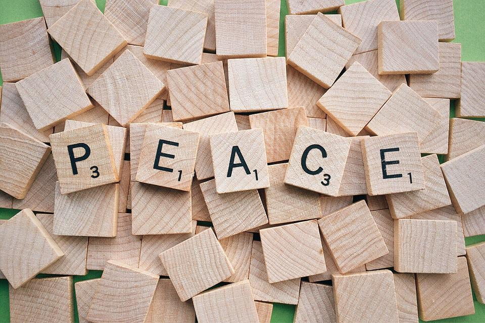 free photo  peace  word  scrabble  letters