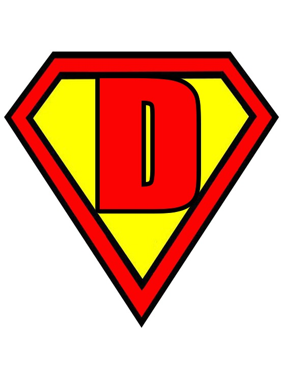 Superman Logo With The Letter D Awesome Graphic Library