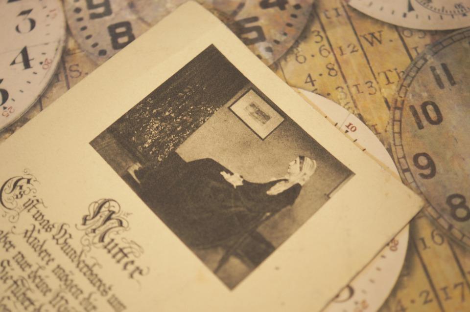 Alt, Altmodisch, Retro, Vintage, Postkarte, Altes Foto