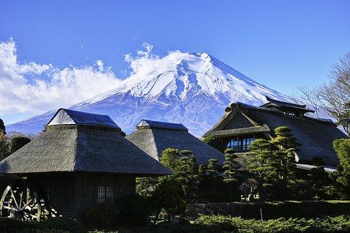 富士山, 日本, 日本の山, 空, 風景, 世界遺産, 青空