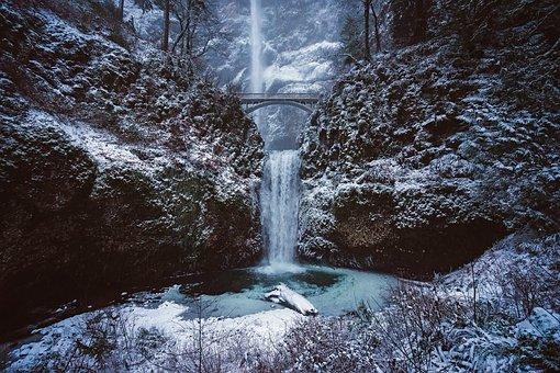 Lugares más bonitos de Norteamérica, Cataratas Multnomah, Rio Columbia, Oregon, Estados Unidos